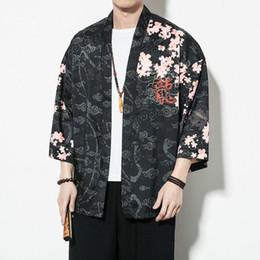Wholesale chinese dragon kimono for sale - Group buy Chinese Style Dragon Kimono Cardigan Shirts Men Hip Hop Streetwear Kimono Shirt Japanese Mens Shirt Summer