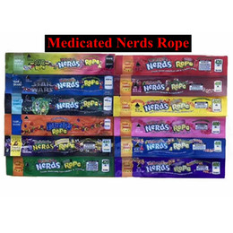 Wholesale Hot medicated nerd ropes 400 420 600mg medicated candy Mylar Bags Empty edible Packaging Gummy bags Three edge-sealing bag foil Food package