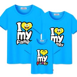 white leather t shirt NZ - Family Matching Outfits print t-shirt mommy and me clothes family look cotton t-shirts father and son outfits clothing CX200714