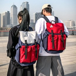 coolest backpacks NZ - Fashion Backpack Unisex Trend Bagpack Reflective Strip Cool Personality Tether Backpacks Student Out Large Capacity Bag Sturdy R8r0#