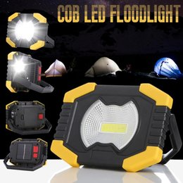 led floodlight emergency rechargeable lamp UK - LED Lampe Led Portable Spotlight Solar Work Lamp Waterproof 2-Mode Emergency Rechargeable Floodlight for Camping Light