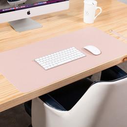 Toptan satış Çift taraflı masa paspaslar boy mouse pad dizüstü bilgisayar masası ped su geçirmez pu deri mouse pad my-inf0031