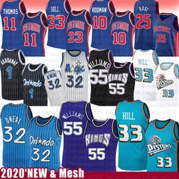 Wholesale rose s for sale – custom Jason Williams Grant Hill Shaquille O Neal Basketball Jersey Piston Magics Penny Derrick Hardaway Rose Isiah Dennis Thomas Rodman