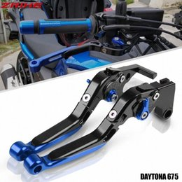 braking levers NZ - For TRIUMRH DAYTONA 675 2006-2015 2007 Motorcycle Accessories Clutch Brake Lever Aluminum Extendable Adjustable Foldable Levers hs75#