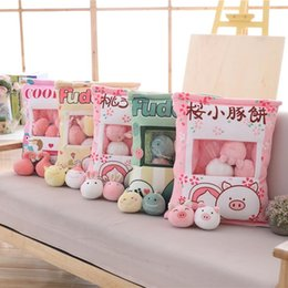mini figures animals Canada - A Bag Of 8pcs Mini Mouse Cat Unicorn Plush Toys For Children Cartoon Pillow Japan Anime Figure Creative Gift For Kids or Her MX200716
