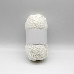 cotton acrylic Canada - Quality yarn hand knitting yarn factory 2pcs 40g skeins 60% cotton 40% acrylic