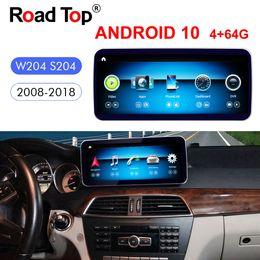 "Ingrosso 10,25 ""Qualcomm Android 10 per Mercedes Benz C Less W204 2011-2013 Auto Radio GPS Navigazione Bluetooth WiFi head Schermo"