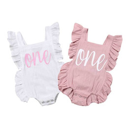 Wholesale outfits for parties for sale – halloween Baby Girl Birthday Party clothing one Years Bodysuit Outfit Sunsuit Jumpsuit Playsuit for Kid clothes toddler Children newborn