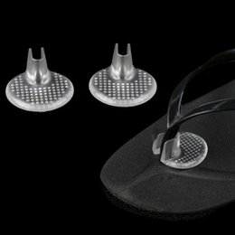 toe pads for shoes UK - 1 Pair Transparent Gel Shoes Inserts shoe-pad Cushion Flip flop Sandals Toe Separator Massage Insole for Woman