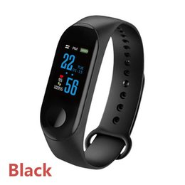 use mi smart watch UK - M3 Smart Bracelet Mi Band 3 Fitness tracker Smart Watch with Heart Rate Waterproof Pedometer Wristband for IOS Android Cell phone X10 DHL