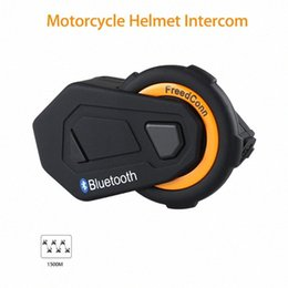 motorcycle helmets bluetooth radio Canada - Freedconn T-max Motorcycle Intercom Helmet Bluetooth Headset 6 Riders Group Talking FM Radio Bluetooth 4.1 + Soft Earpiece uELR#