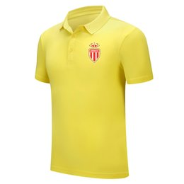 2020 as monaco fc new Lapel sports brand shirt summer men's trend Polo football polo shirt high cotton fashion sports sleeve head shirt