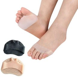 silicone slip shoes NZ - Shoes 1 Pair Silicone Pads Heel Protector Shoes Anti-slip Gel Cushion Resistant Pain Relief Forefoot Care Half Yard Invisible Insoles