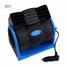 truck fan NZ - 12V 24V Car Cooling Air Fan Electric Car Fan Speed Adjustable Silent Cooler Vent Fans High Velocity Blower For SUV Truck VC42#