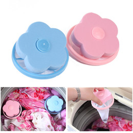 pink hair bags UK - Universal Plastic Filter Bag Decontamination Washer Laundry Cleaning Percolator Mesh Filtering Hair Removal Stoppers Catchers Pink Blue
