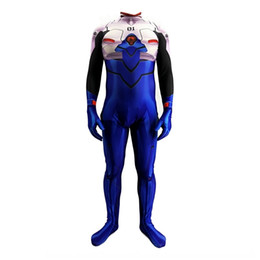 Wholesale warrior women costumes for sale – halloween Evangelical warrior Ding zhensi whole body animation game Stage clothes clothing costume Halloween stage costume play EVA