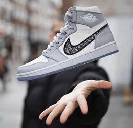 Nike SACAI LDV Waffle Daybreak x Dior alta-top Homens Mulheres Design Sapatas Air Jordan 1 Com o Classic Oblique tênis de basquete Chaussure em Promoção