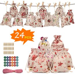 candy treat boxes Canada - Christmas Paper Kids gift-bag Box 2020 New Year Christmas Home Decoration Candy Bags Treats Packing