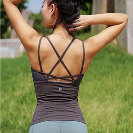 Wholesale pink stitch shirt resale online - Women Sexy Yoga Sport Vest Sleeveless Quick Drying Running Tank Top Gym Yoga Shirt Mesh stitching Fitness Vest with Chest Pad