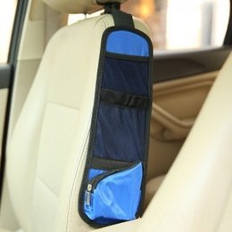 blue storage trunk NZ - Car front seat Seat side multi-functional mobile phone hanging bag storage sundries storage car beverage bag