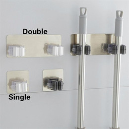 Wholesale magic mounts for sale - Group buy Magic Stick Strong Hook Adhesive Multi Purpose Hooks Wall Mounted Mop Organizer Holder RackBrush Broom Kitchen Bathroom Hooks