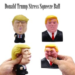 doll fun Canada - Donald Trump Squishy Toy Stress Squeeze Ball Jumbo Cool Pressure Relief Kids Doll Decor Fun Joke Props Novelty Gift 50pcs W95995