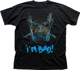 walter white t shirt Australia - Short Sleeve O-Neck Walter White aka Heisenberg Im Bad black t-shirt custom t shirts