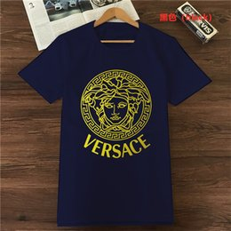 circle clothes UK - Vers̴ace Men Stylist T Shirt Clothing Sleeve T Shirt Circle Star T Shirt Unisex Tee Cotton Tops mens designer tracksuits givency