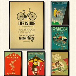mirror sticker paper NZ - classic movie bike poster kraft paper print wall art painting vintage style room decoration retro poster wall sticker HtRD#