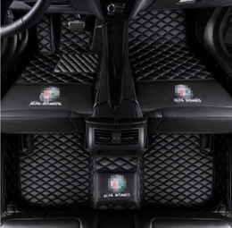 alfa romeo accessories NZ - Fit Alfa-Romeo Giulia 2017 Front Rear Liner Pads Luxurious Carpets Accessories styling Custom made PU Leather Auto Car Floor Mats