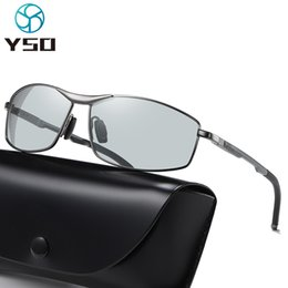 fashion metal car Australia - YSO Fashion Photochromic Sunglasses For Men Women Polarized UV Protection Glasses For Car Driving Metal Frame Goggles 580