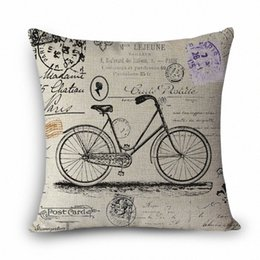 Discount bicycle home decor Wholesale MYJ A1 Throw Pillow Without Inner Design Print Bicycle Decorative Throw Pillows Dandelion Colorful Printed Hom