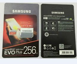 Ingrosso 1Pcs 32GB / 64GB / 128GB / 256GB di Samsung EVO + Più Micro SD U3 / carta di smartphone TF C10 / Tablet PC bagagli 95MB / S