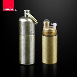 venda por atacado IMCO Original Lighter Gasolina Vintage Querosene Lighter Genuine Latão isqueiro charuto fogo Briquet Gasolina Porta Isqueiro