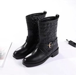 car boot liners UK - Ting2594 6032 New Car Line Booties Riding Rain Boot Boots Booties Sneakers Dress Shoes