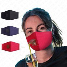 Women Men Face Mask New Design Cotton Cloth Solid Color Adjustable Straw Mask Dustproof Adult Mask Cover Outdoor Casual Sports Masks D71512 on Sale