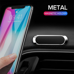 cell phone wall mount holder UK - Universal Mini Magnetic Car Phone Holder Stand Metal Magnet Mobile Phone Cell GPS Stand Car Mount Dashboad Wall with retail package DHL