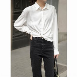 shirt korean designs UK - Women's design sense niche 2020 Summer new Korean style all-match short shirt Hong Kong style shirt