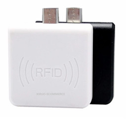 usb rfid android 2020 - Mini Size USB IC Card reader Writer for Android Mobile Phone Micro USB 13.56mhz Card Reader Writer cheap usb rfid androi