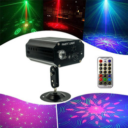48 Patterns Home LED Disco Light Professional DJ Stage 3 Holes Laser Projector Lights Music Control Party Light For Wedding Bar on Sale