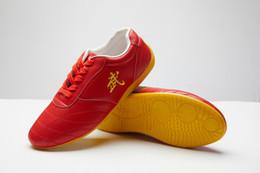 Venta al por mayor de clásicos de cuero de vaca de goma de los zapatos soled los zapatos de los hombres de alta calidad de los zapatos de Kungfu wushu taiji