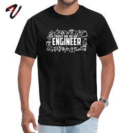 clothing sayings NZ - Engineer T-Shirt New Designer Men T Shirt Birthday Gift Tees Cotton Saying 100% Funny Top Trust Me I Am An Engineer Clothes