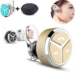 q5 bluetooth headset Canada - Original Q5 Mini Bluetooth headset V4.1 Portable Wireless Headset Handsfree Stereo earphone for Android ios Apple all phones with retail box
