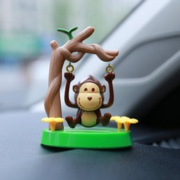 animate toys Australia - No battery Solar Powered Dancing Swinging Animated Dancer Monkey Toy Car Windowsill Decoration Accessories New #P10 o1Ql#
