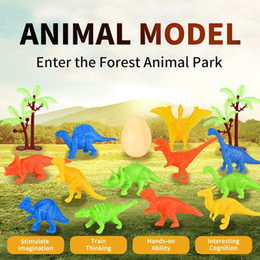mini figures animals Canada - mini animals dinosaur simulation toy Jurassic Play Dinosaur model action figures set educational toys gifts for children kids boy 06