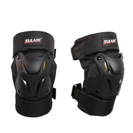 knee pads roller skating UK - Motorcycle Roller Skating Anti-Fall Knee Pads Heat-Resistant High Impact Resistance High-Strength Anti-Collision 1 Pair