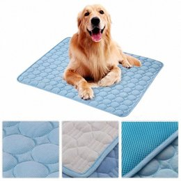 durable beds UK - Cooling Mat Cushion Heat Relief Cool Pad Durable Breathable Pet None Toxic Bed Light Cooler Dog Comfort Cotton 5KE8#