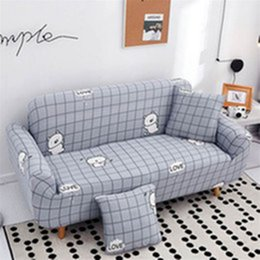 simple pillowcase pattern Australia - Simple style corner sofa cover couch cover for sofa with pillowcase streak pattern of furniture covers hot sale