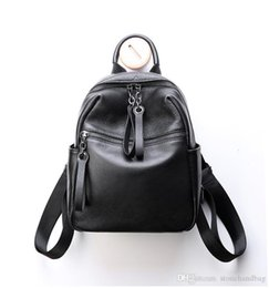 large genuine leather backpack UK - New Casual preppy style Large Capacity Soft Genuine Leather Women Backpack double Shoulder Bags Fashion Bag Designer Brands Ladies Crossbody