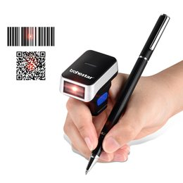 mini bluetooth barcode UK - Trohestar N8 2D Wireless Ring Barcode Scanner Portable Mini Bar Code Reader Bluetooth Scanners Compatible for Windows iOS Android
